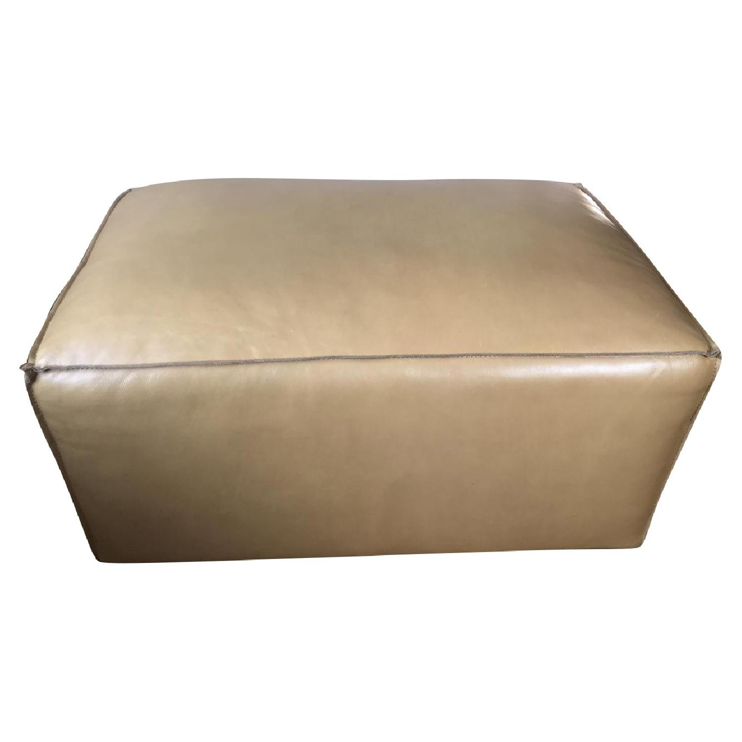 Contemporary Leather Ottoman