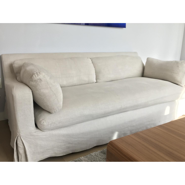 Restoration Hardware Belgian Slope Arm Sofa Aptdeco