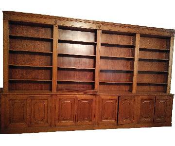 Vintage 1950's Custom Wooden Wall Unit