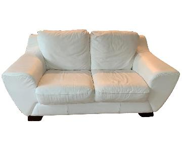 Custom-Made Italian Leather Loveseat