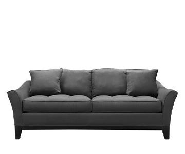 Raymour & Flanigan Microsuede Sleeper Sofa