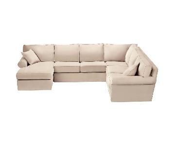 Ethan Allen Bennett Roll-Arm Sectional Sofa