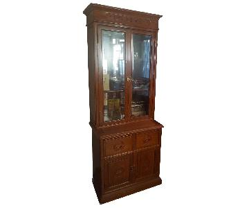 Rosewood Oriental Hand Carved Cabinets
