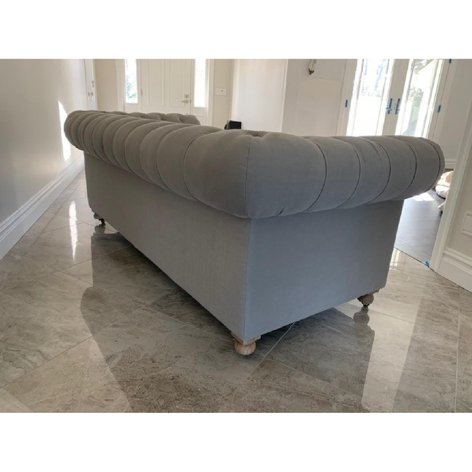 Restoration Hardware Cambridge Belgian Linen Fog Sofa-2