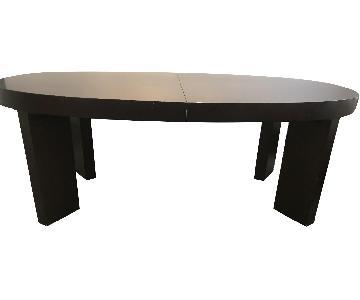 Dark Wood Dining Table w/ 2 Leaves