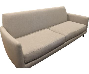 CB2 Sand Colored Sofa