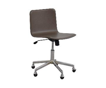 CB2 Form Grey-Brown Leather Office Chair