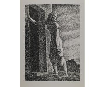 Rockwell Kent Lithograph - Good-Bye Day