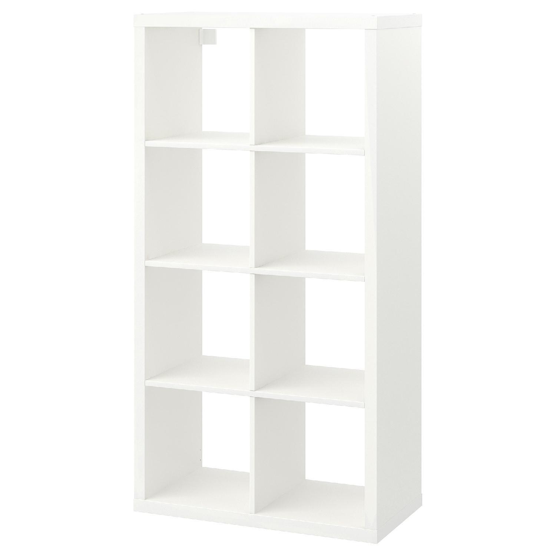 Ikea Kallax Shelf Unit in High Gloss White