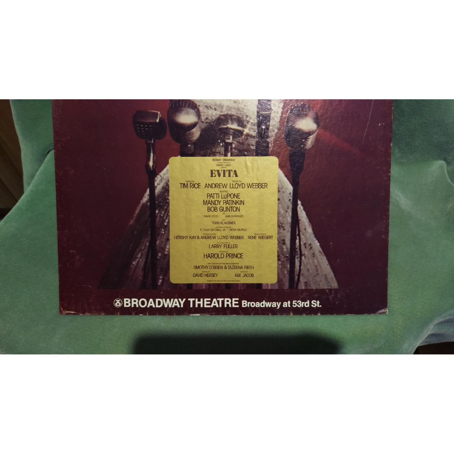 1970s Evita Patti Lupone Broadway Theater Board Sign-2