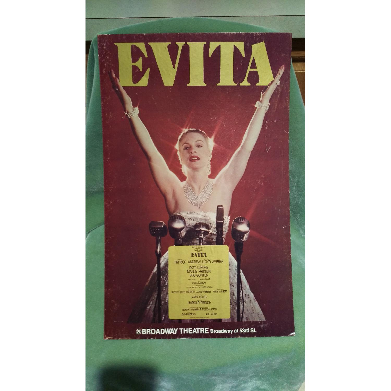 1970s Evita Patti Lupone Broadway Theater Board Sign-3
