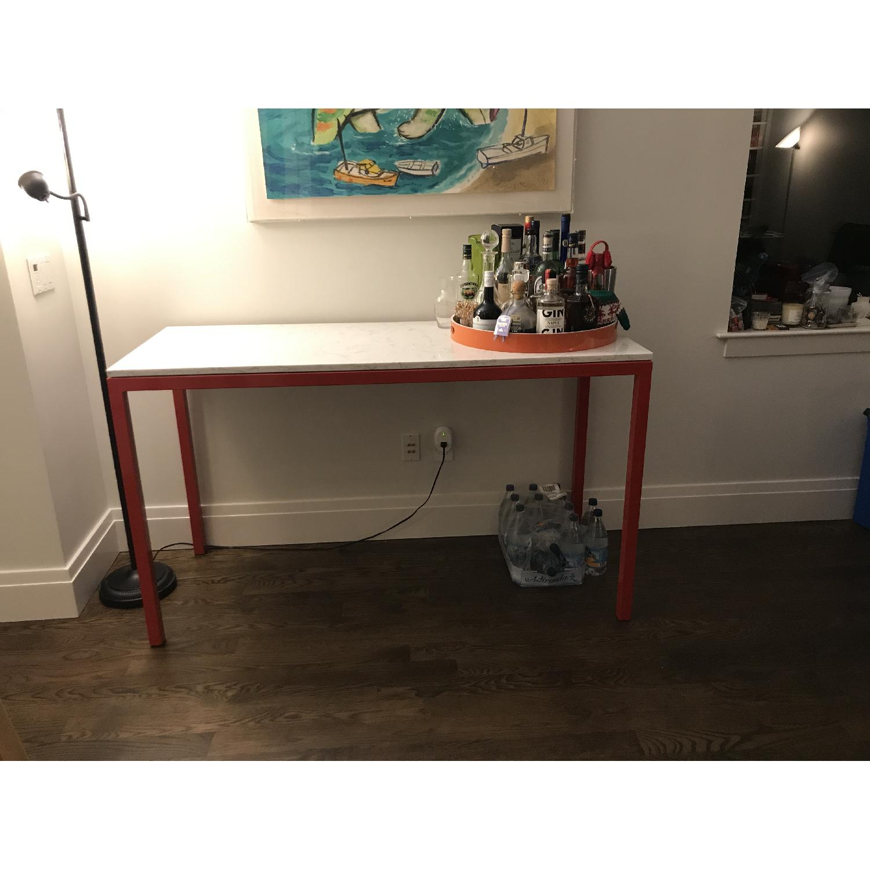 Room & Board Counter Table w/ Marble Quartz Composite Top-0