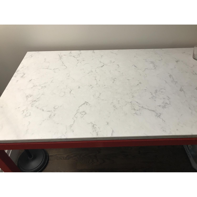 Room & Board Counter Table w/ Marble Quartz Composite Top-1