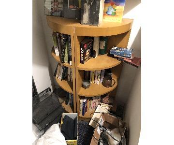 Quarter Round Bookcases