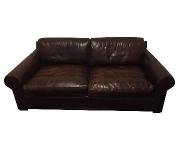 Restoration Hardware Lancaster Leather Sofa
