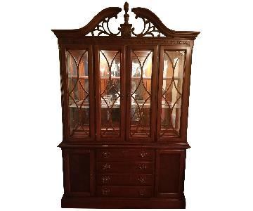 Lexington Cherry Wood China Cabinet