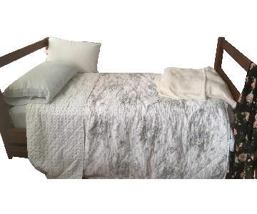 Wood Twin Bed Frame w/ Storage