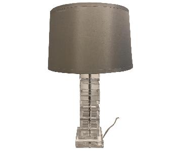 Restoration Hardware Stacked Crystal Block Table Lamps