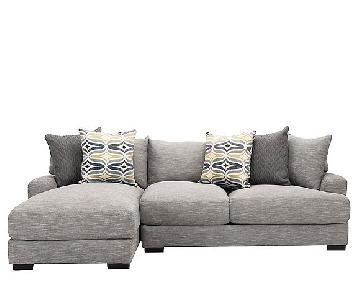 Raymour & Flanigan Leighton 2 Piece Chaise Sectional Sofa