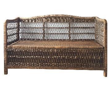 Homenature Rattan Bench w/ Storage