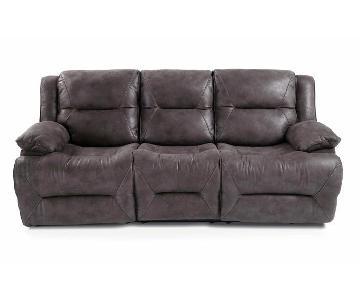Bob's Gray Reclining Sofa