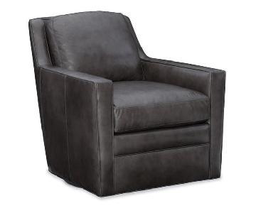 Bradington Young Leather Swivel Chair