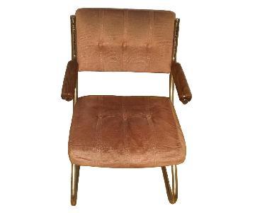 Chromcraft Revington Mid Century Brass Cantilever Chairs