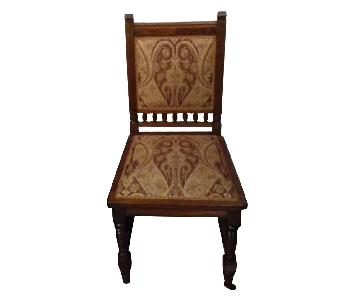 Vintage 1940's Fabric Dining Chairs