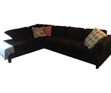 Jonathan Louis Chocolate Brown Sectional Sofa