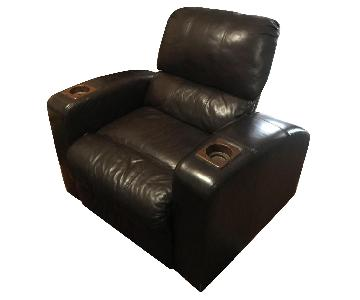 Parker Brown Leather Lounge Chair
