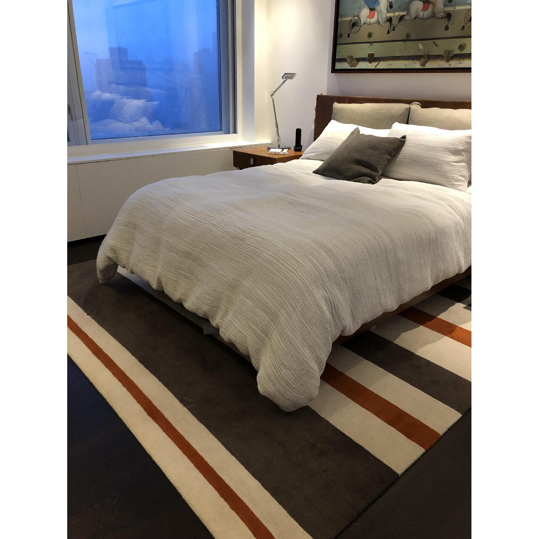 Contemporary Stripe Wool Rug-0