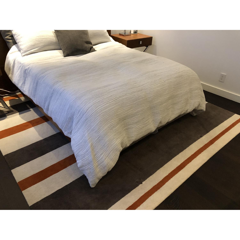 Contemporary Stripe Wool Rug-1