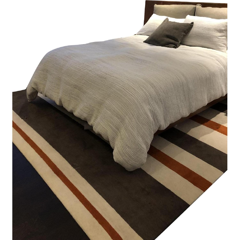 Contemporary Stripe Wool Rug