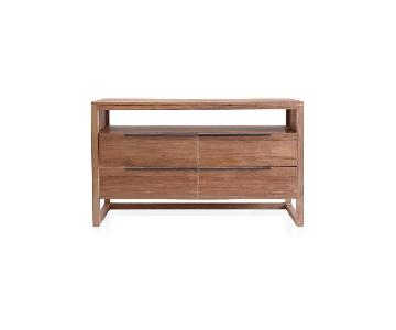 Crate & Barrel Linea II Natural Four-Drawer Dresser!