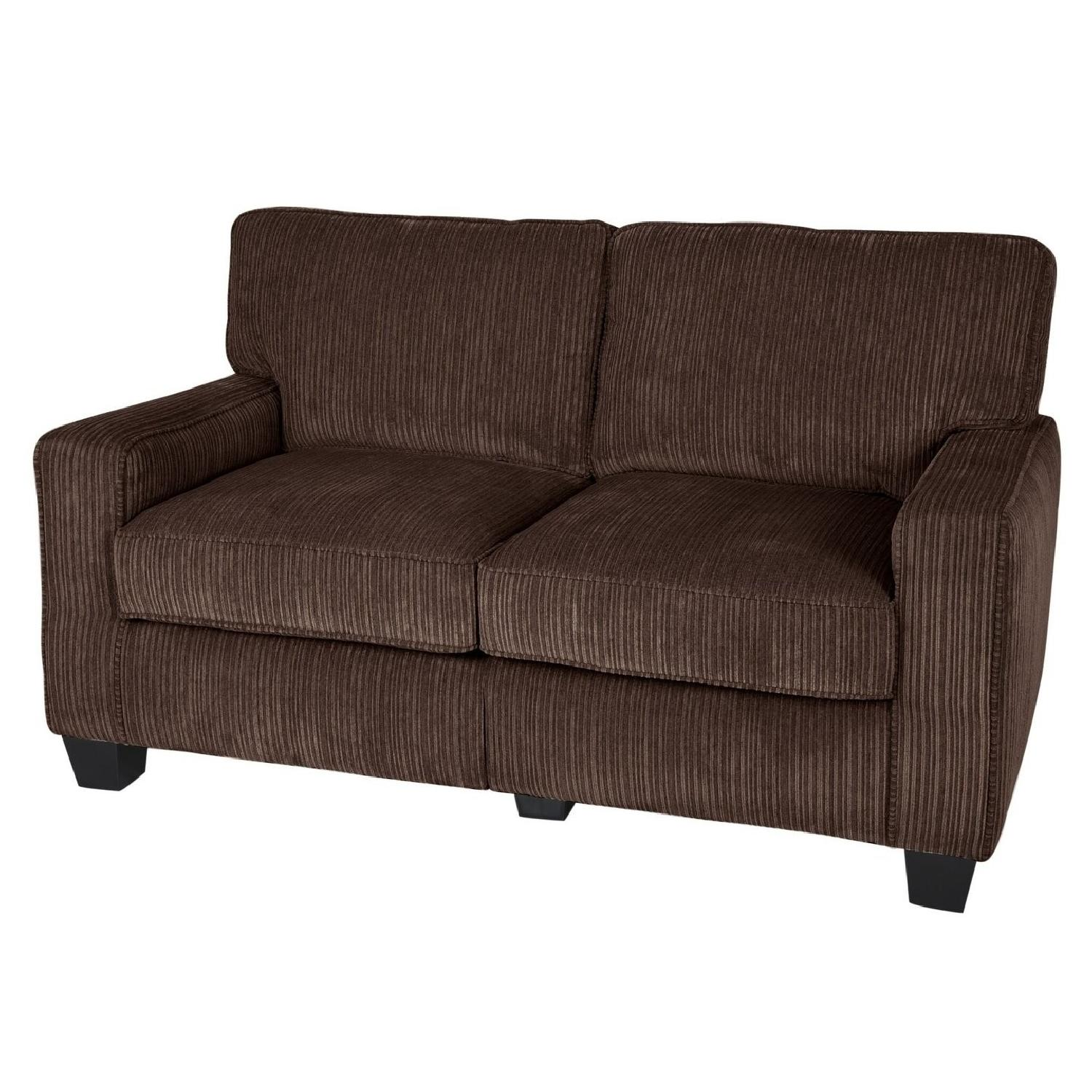 Serta RTA Palisades Loveseat in Dark Brown