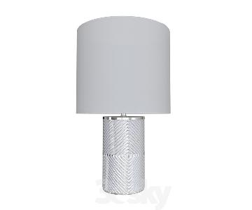 West Elm Etched Glass Table Lamps