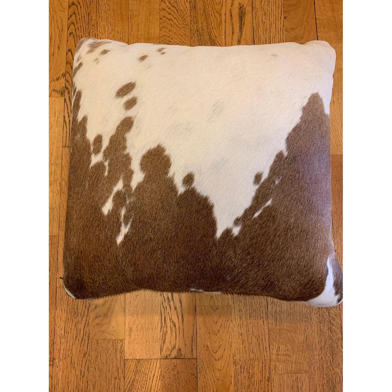 Room & Board Natural Cowhide Modern Throw Pillow-0