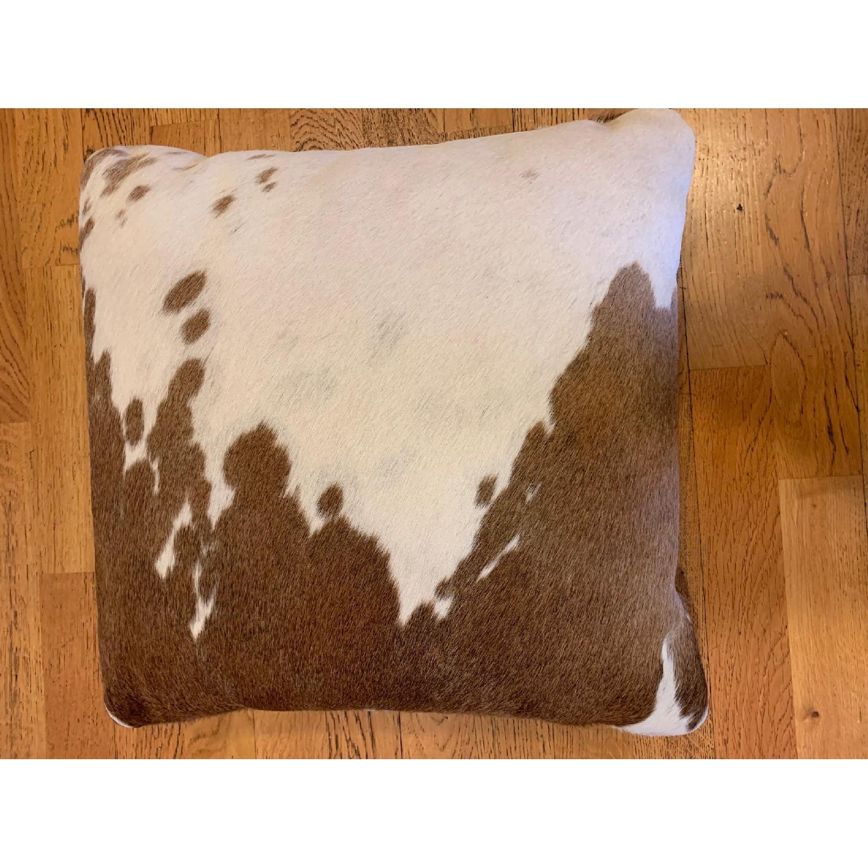 Room & Board Natural Cowhide Modern Throw Pillow-1