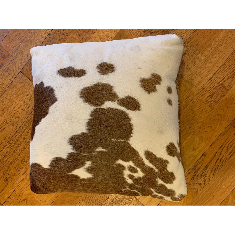 Room & Board Natural Cowhide Modern Throw Pillow-2