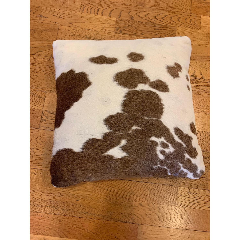 Room & Board Natural Cowhide Modern Throw Pillow-3