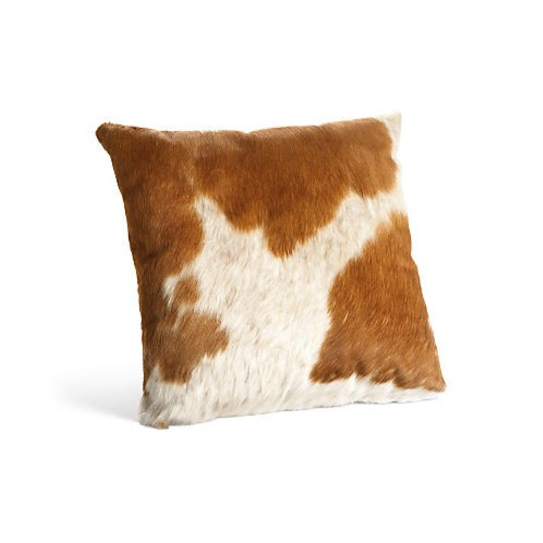 Room & Board Natural Cowhide Modern Throw Pillow