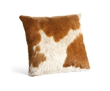 Room & Board Natural Cowhide Modern Throw Pillow