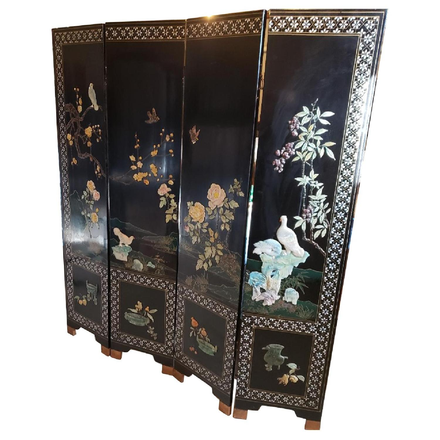 Mother of Pearl & Jade Privacy Screen