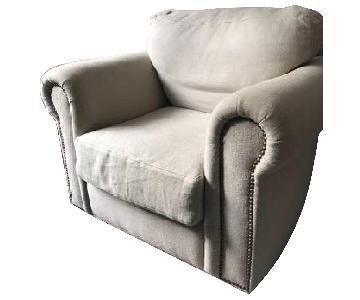 Cisco Brothers Cream Fabric Chair