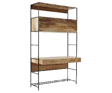 West Elm Industrial Mango Wood Modular Storage Desk