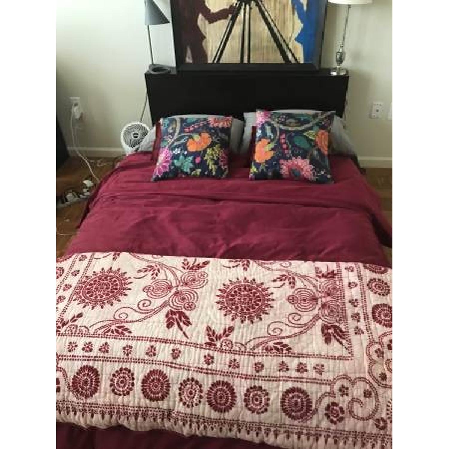 West Elm Platform Bed Frame w/ Headboard-2