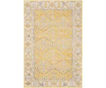 Safavieh Hand-Knotted Stone Wash Yellow Wool & Cotton Rug