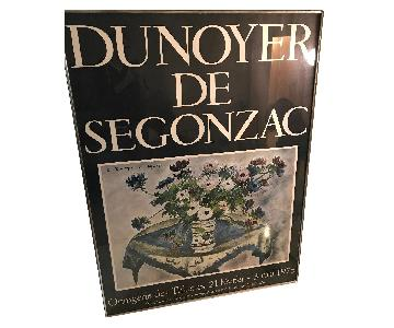 Framed Dunoyer De Segonzac Large Floral Poster