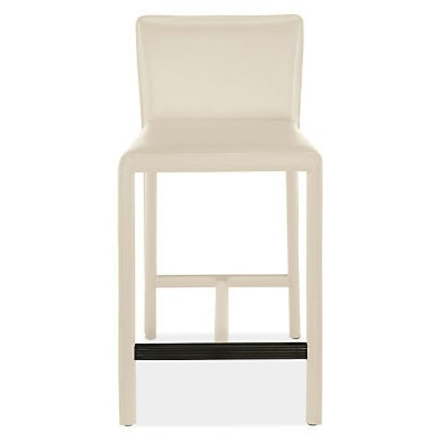 Room & Board Sava Counter Stool in Ivory Leather