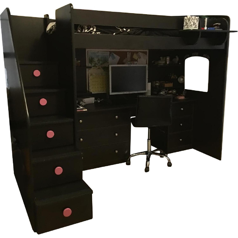 Berg Utica Loft Bed W Desk Drawers Aptdeco